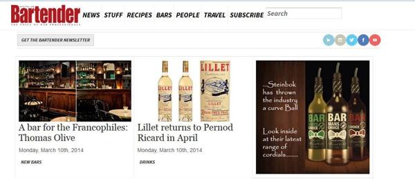 Bartender Magazine on-line